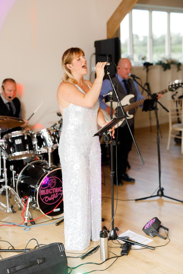 Electric Outfit performing at Katie and Karls wedding