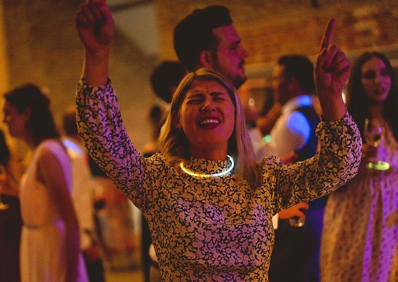 Woman dancing at wedding party
