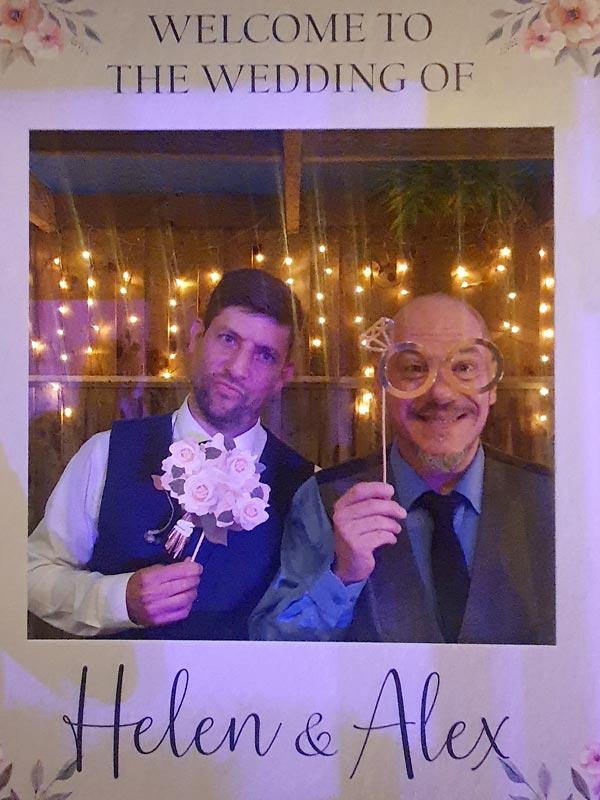 Carlo and Craig - Wedding Polaroid pose